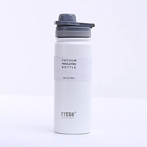Botella de Deportiva-Motivacional, Antigoteo -para Niños, Colegio, Escolar, Gym, Oficina -blanco_530ml