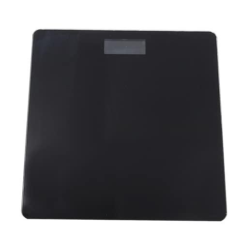 DHTOMC Bilancia da pavimento per il corpo, in vetro, elettronica, Smart Scale USB, ricaricabile, con display LCD digitale, sensori ad alta precisione