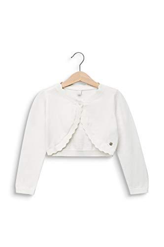 ESPRIT KIDS Mädchen RQ1806302 Sweater Card Strickjacke, Weiß (Off White 110), (Herstellergröße: 116+)
