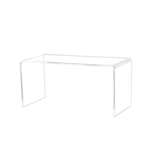 EXCEART 6 Pièces Acrylique Présentoir Riser Acrylique Bijoux Affichage Riser Plateau Vitrine Luminaires pour Gâteau Bonbons Présentoir Transparent