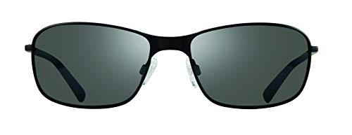 Revo Unisex adulto RE 1084 01 GY Gafas de sol modernas deportivas polarizadas rectangulares Decoy Re 1084