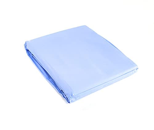 Fazzini Sábana bajera lisa Arianna col. 131 azul matrimonial 160 x 200 x 30 cm percal