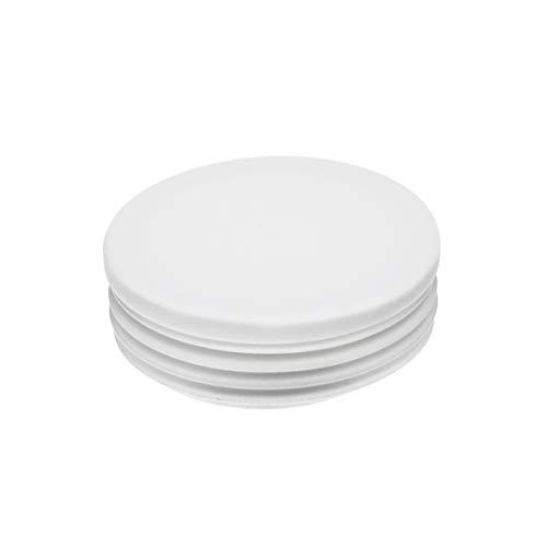 Rundstopfen 60 mm Weiss | 5 Stück | Kunststoff Lamellenstopfen Abdeckkappe