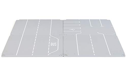 SIKU 5599 - Parkplatz und Geraden, Kunststoff, Vielseitig einsetzbar, Inkl. Aufkleberbogen, grau