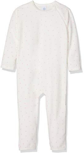 Sanetta Sanetta Baby-Mädchen Overall Long Schlafstrampler, Beige (Broken White 1427.0), 56