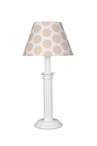 Waldi Leuchten Bubbles XL Lampe de Table, Natur/Beige, H 43 cm, Ø 20 cm