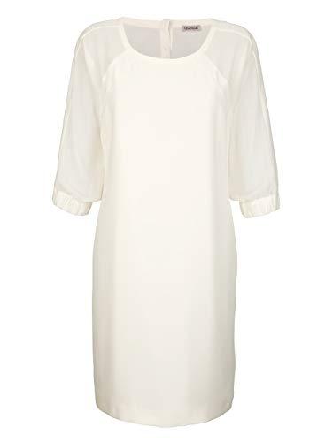 Alba Moda Kleid mit transparenten Chiffon-Ärmeln Off-White