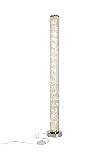 Northpoint Micro LED Tower Lichtsäule Standleuchte Stehleuchte Warmweiß Fußtrittschalter hochglanz Chrom-Look Standfuß/Abdeckung