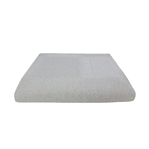 Acomoda Textil - Colcha Multiusos Sofá, Manta Foulard Grande. Plaid Cubrecama Ajustable y Suave. Algodón 100% Reciclado. (Perla, 230x290)