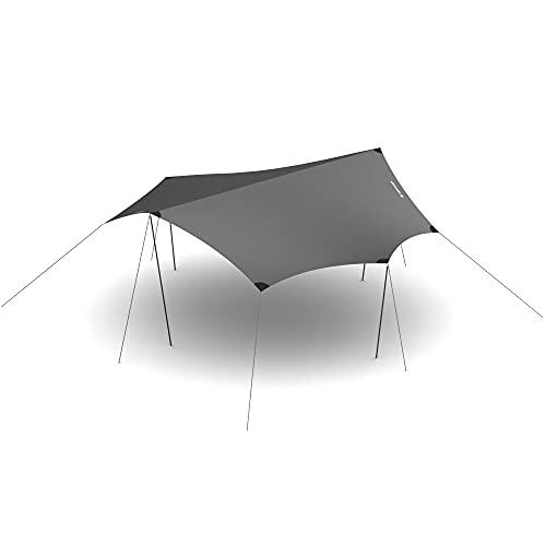 HEIMPLANET Original | Dawn Tarp XL | Zelt Plane mit 5000mm Wassersäule | Zeltplane mit Ösen | Unterstützt 1% for The Planet (Grau)