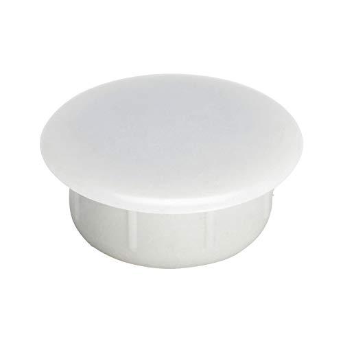100 tapones para orificio de 10 mm Irox cabeza de 14 mm pl/ástico color gris