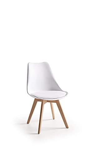 ConfortChoice Confezione da 4 sedie da Pranzo Tulip in Stile Nordico scandinavo