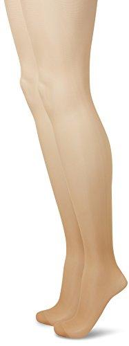 Camano Damen 8200 Strumpfhose, Braun (Make Up 0011), 42/43 (Herstellergröße: 42/44) (2er Pack)