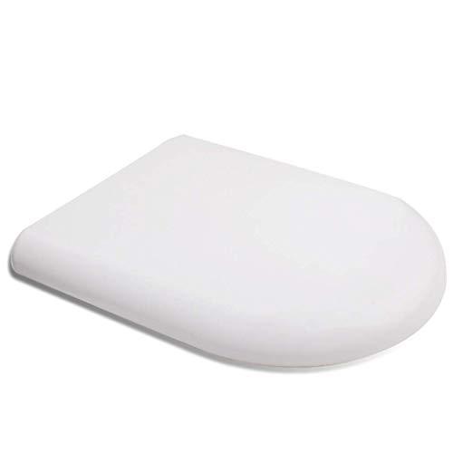 ZXL Rustige witte toiletbril Snelsluitend scharnier Kleine onderdelen voor eenvoudige installatie Eenvoudig te reinigen deksel toilet Algemeen Verdikking U-vormig accessoire