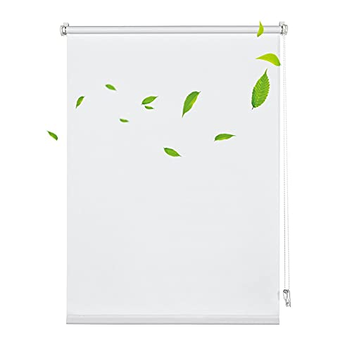 XJJUN Transparenter Rollo, Wasserdichter Regenvorhang, Bruchsichere Kunststofffolien-Tür-Fenster-Trennwand, Für Garten-Balkon (Color : Klar, Size : 1.2x1.5m)