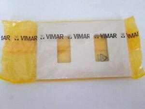 PLACCA VIMAR 8000 2 FORI COLORE AVORIO 08636.A 8636.A 08636 8636 2 MODULI PLACCA