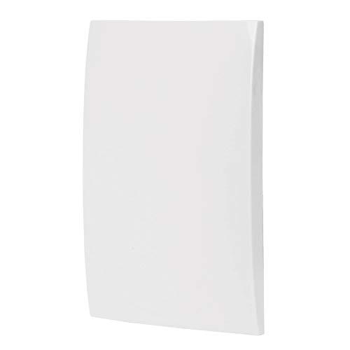 Volteck PPCI-OB, Placa de ABS ciega, línea Oslo, color blanco
