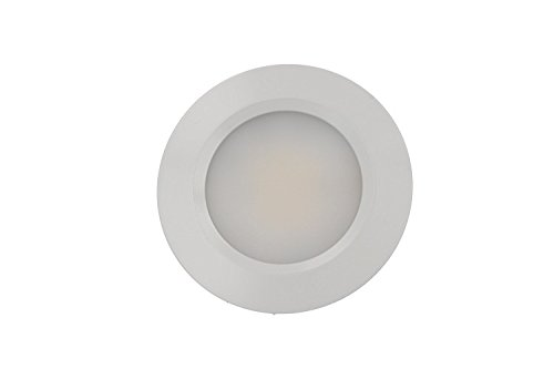 Mini foco LED empotrable Redondo 3W AC/DC 12V DC 24V blanco neutro orificio 50mm Carcassa Blanca