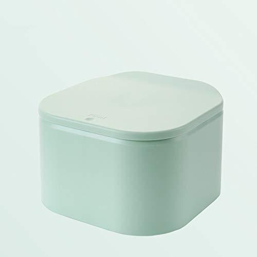 Yuxahiugljt Mini Doble Capa Papeleras Multi-función De La Caja De Basura De Escritorio De Presión Sellados Apropiadamente Pueden Oficina De Basura De La Cocina Cubo De Almacenamiento (Color : Green)