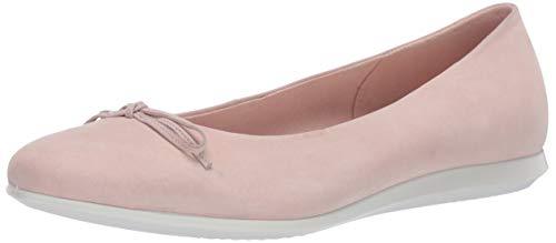 ECCO Damen Touch Ballerina Bow 2.0 Ballett Flach, Pink (Rosenstaub Nubuk), 42/42.5 EU
