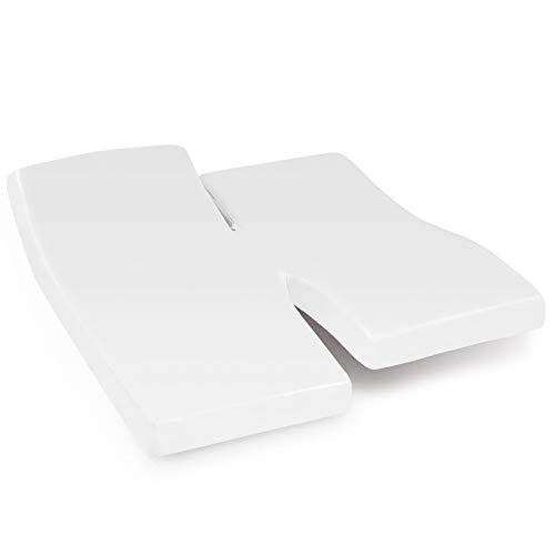 Linnea Drap Housse Relaxation uni 2x70x190 cm 100% Coton Alto Blanc TPR Tête et Pied relevable