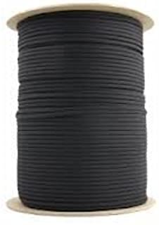 1000 Ft 550 Cord Paracord Spool - Type III Mil-Spec Commercial - 25+ Colors - Wholesale Paracord (Black)