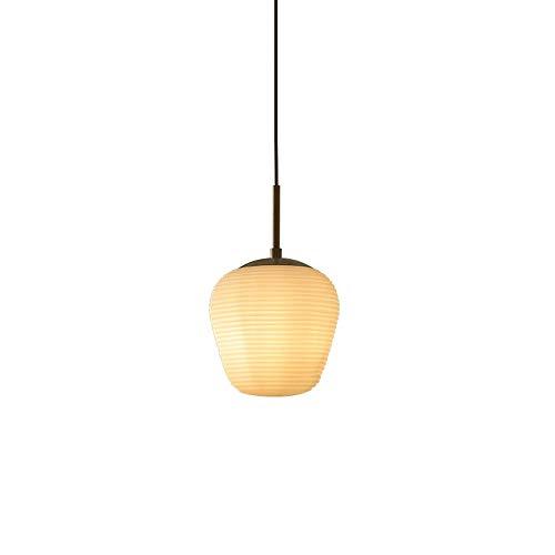 Luz colgante de vidrio, luz amarilla clara en forma de panal, luz de colgante, enchufe de iluminación E27, socket de latón, lámparas de suspensión simple nórdicas para comedor, pasillo, isla de cocina