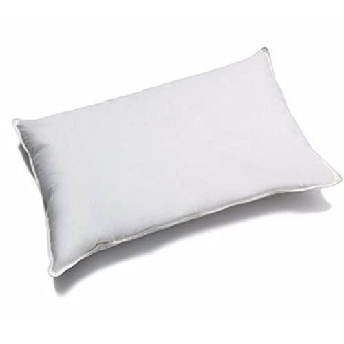 ALProduction - Cojín de fibra siliconada, 50 x 80 cm, transpirable e hipoalergénico, almohada lisa, 400 g de relleno de microfibra, suave y cómodo, para cama individual o de matrimonio