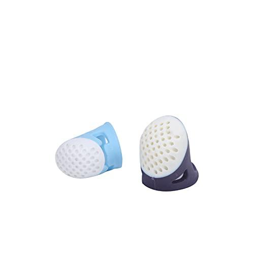 Dedal de costura, 2 peças flexíveis reutilizáveis manga dedal doméstico ferramentas de costura DIY macias para dedos polegar para bordado