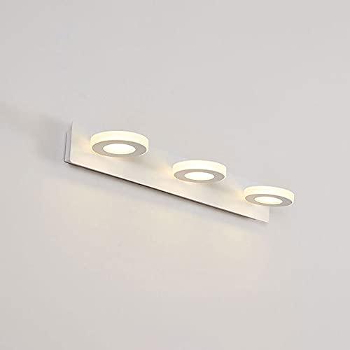 Lámpara de tocador de baño, Luces Delanteras de Espejo LED, Lámparas de luz de tocador de Pared de acrílico Sombra Blanca, lámparas de Espejo de iluminación de Maquillaje para Lavabo.