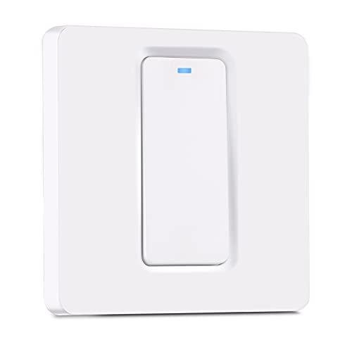 TEEKAR Interruptor de luz ZigBee Alexa [No se Requiere Cable Neutro], Control Inteligente de la aplicación de Voz Lichtschalter Unterputz, Interruptor Inteligente de función de sincronización