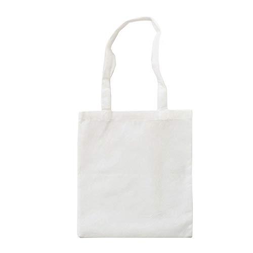 Bags by Jassz Stoffbeutel aus Baumwolle mit langen Henkeln (ca. 38 x 42 cm, Weiß)