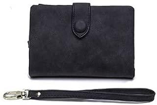 Designer Women Wristlet Wallet with Strap Coin Pocket Vintage Soft Pink Suede Purse Ladies Folder Money Clips 6colors billetera