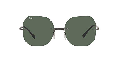 Ray-Ban 0RB8067 Gafas, BLACK ON SANDING GUNMETAL, 57 Unisex Adulto