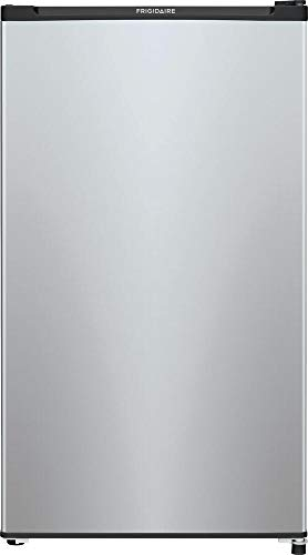 """FFPE3322UM 19"""" Compact Refrigerator with 3.3 cu. ft. Total Capacity Adjustable Glass Shelves Reversible Door and Chill Zone in Silver Mist"""