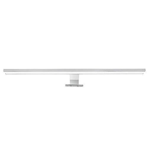VINGO LED Spiegelleuchte 12W Schminklicht Badezimmer Badleuchte Klemmleuchte Aufbauleuchte Schrankleuchte Mit Schalter Weiß IP44 60CM 1100LM