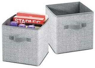 mDesign Grande boîte de rangement pour le bureau, atelier, studio – panier de rangement pour ranger fichiers, papier d'imp...