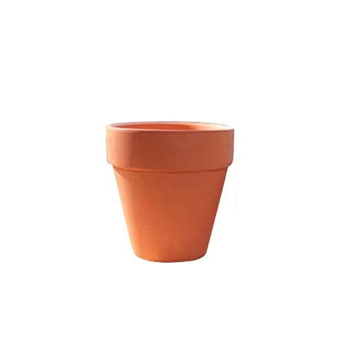 WBFN 10st Mini Pot van het Terracotta Clay Ceramic Pottery Planter Cactus Bloempotten Succulent Nursery Pot van het Terracotta Grote Bloempotten Bloembakken (Color : Brown, Sheet Size : 9x9cm)
