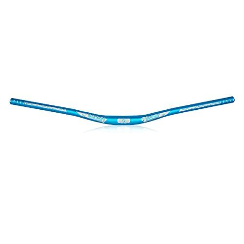 LINGSFIRE Guidon Vélo de Montagne 720mm Super Léger MTB Bars Aluminium Alliage VTT Guidon Vélo Riser Bar Ultra-long Barres de Vélo Haute résistance Guidon Cintre pour vélo de Descente et Course (Bleu)