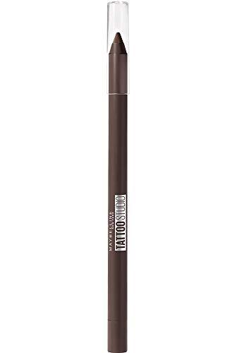 Maybelline New-York - Crayon Gel Effet Tatouage Yeux - Waterproof & Tenue 36h - Tattoo Liner - Teinte : Bold Brown (Marron) (910)