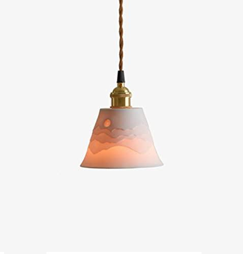 Grupo de montañas apiladas latón vintage techo colgante lámpara lámpara lámpara dormitorio comedor bar B & B cerámica...