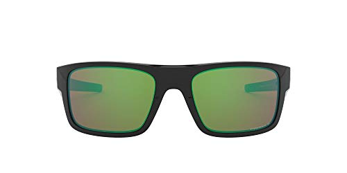 Oakley Men's OO9367 Drop Point Rectangular Sunglasses, Polished Black/Prizm Shallow Water Polarized, 61 mm