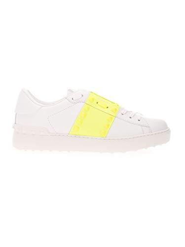 Luxury Fashion | Valentino Garavani Dames TW2S0A01UTU15K Geel Leer Sneakers | Lente-zomer 20