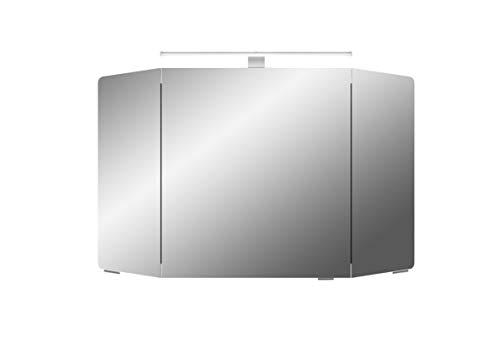Pelipal Cassca Sprint Bad Möbel, Spiegelschrank, LED Beleuchtung, Graphit Struktur quer NB 100 cm