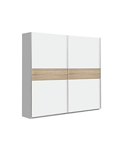 CAMBIA TUS MUEBLES - Armario Puerta corredera Winter, Armario ropero de 220 X 210 cm Armario Dormitorio, Blanco