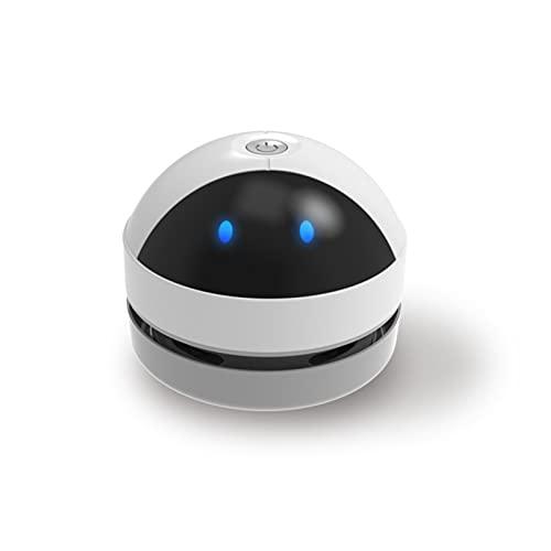 YOUYO Robot Desktop di Aspirapolvere Mini Aspirapolvere 360 Litri di Aspirazione con Un Solo Pulsante di Rimozione Della Polvere Facile da Trasportare Batteria 1200Mah Adatto per Varie