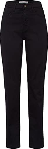BRAX FEEL GOOD BRAX FEEL GOOD Damen Hose Carola – Straight Leg, Stretch, normaler Bund – Baumwolle, Baumwollstretch PERMA BLACK 42K