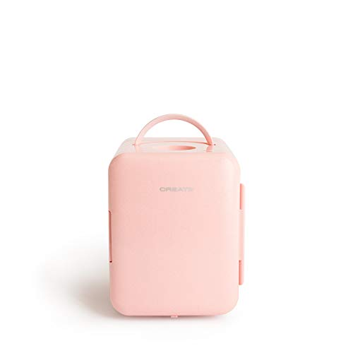 CREATE IKOHS FRIDGE MINI BOX - Mini frigorifero freddo e caldo, colore: Rosa pastello