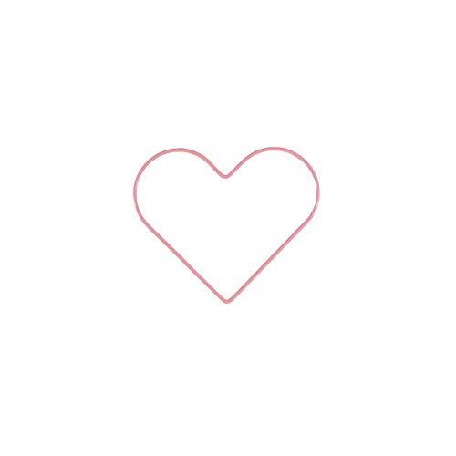 Vaessen Creative Metal en Forma de Corazón, Rosa Claro, 15 cm x 3 mm, para Manualidades, Aro Atrapasueños, Anillo de Guirnalda para Tapiz de Macramé, Ganchillo y Decoraciones Nupciales, 15 cm
