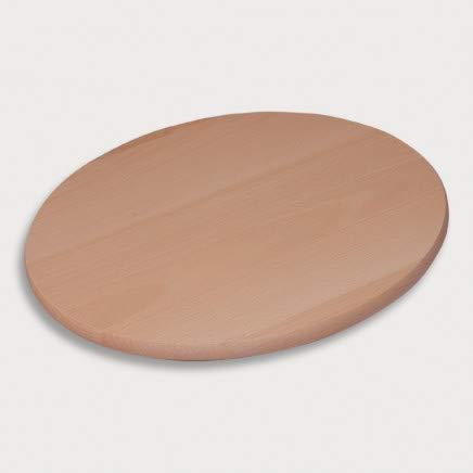 HOFMEISTER® Servierteller, drehbar, 100% plastikfrei, Made in EU, 40 cm, Naturprodukt, perfekt für Pizza, Wurst- und Käse-Platte,runde drehbare Servier-Platte für Snacks